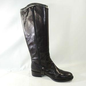 Via Spiga Size 8 M Black High Boots Women C3B E9